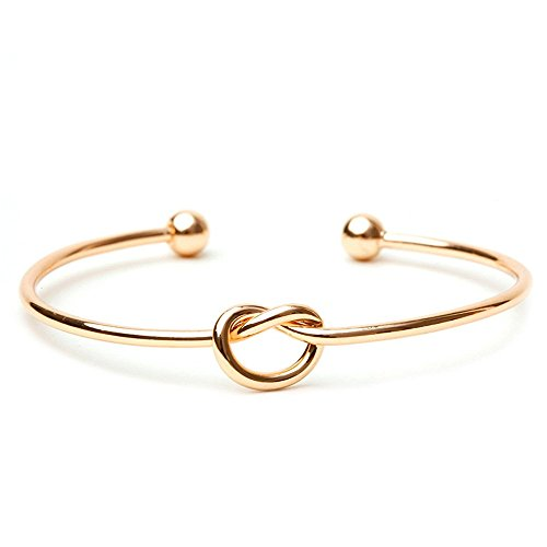 BODYA Love Knot Armreif verstellbare Fliege The Knot Manschette Armreif vergoldet Brautjungfer Geschenk Mode Frauen Schmuck