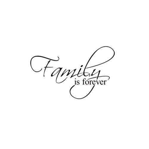 WINOMO Pegatina de Pared Family Forever Decorativos Frases Pared Letras Etiqueta de la Pared 37 x 60cm