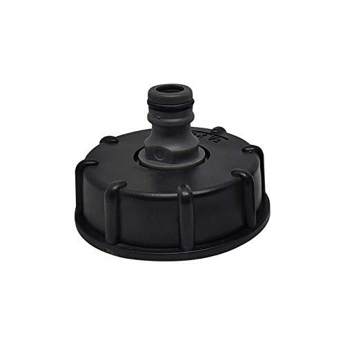 Adaptador de tubo de manguera de agua de cierre de la válvula de cierre, Adaptador de manguera de rosca gruesa DN60 / material plástico Para barriles de lluvia, acuarios, tanques de agua, bañeras, est