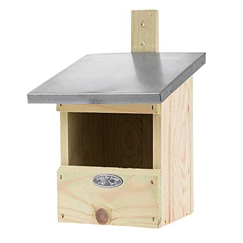 SIDCO Nistkasten Rotkelchen Vogelhaus Kleinvögel Garten Deko Brutkasten Holz Nest