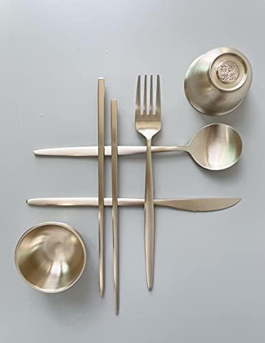 cozymomdeco Korean Made Premium Traditional Brassware YUGI, Offering Price Deal Cutlery & Sauce Bowl