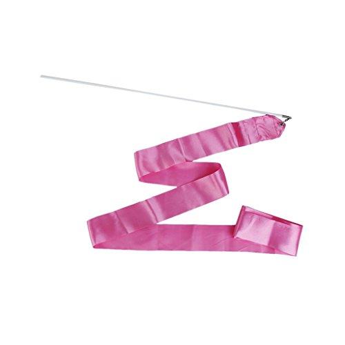 Turnhalle Tanzen Band rhythmisch Turn Luftschlange Stange Taktstock Twirling (pink)