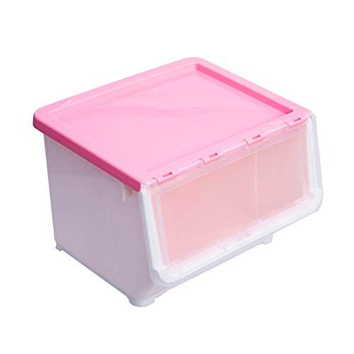 TOPBATHY Caja de almacenamiento portátil Caja de almacenamiento biselada para el hogar para sala de estar del dormitorio (rosa)