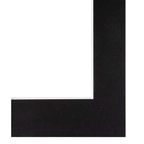 Hama Premium-Passepartout, Schwarz, 40 x 50 cm für Bildausschnitt 30 x 40 cm