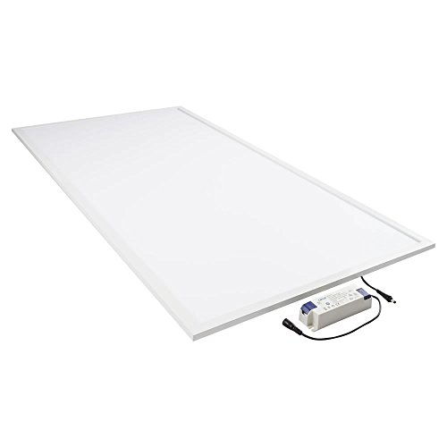 Biard Plafonnier LED - Dalle Lumineuse 60x120cm - Panneau Basse Consommation 60W - Blanc Naturel/Froid