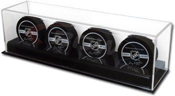 Hockey Puck Display Case for 4Pucks by BCW Supplies
