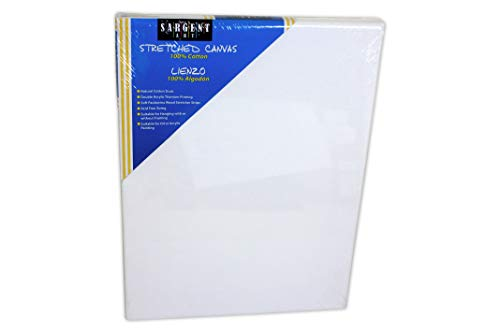 Sargent Art 90-2002 18x24-Inch Stretched Canvas, 100% Cotton Double Primed