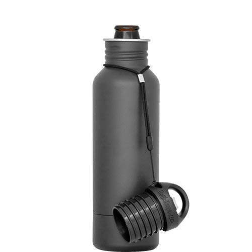 BottleKeeper - The Standard 2.0 - The Original Stainless Steel Bottle Holder and Insulator to Keep Your Beer Colder (Charcoal)