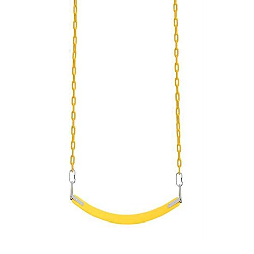 Columpio Asiento de Swing Suave para niños, Silla Colgante de Tornillo de jardín al Aire Libre, fácil de Instalar y fácil de Transportar. (Color : Yellow, Size : 1.5m Chain)