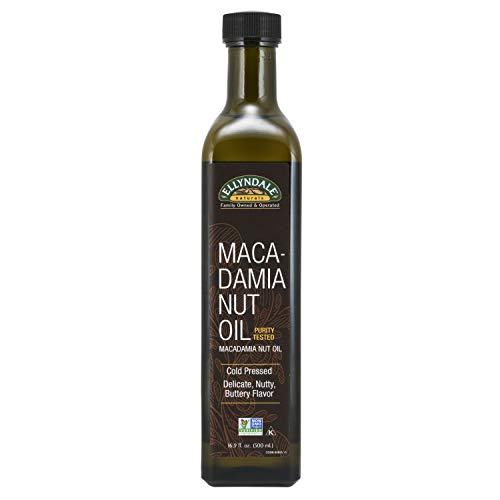 NOW Foods, Macadamina Nut Cooking Oil in Glass Bottle, Purity Tested, Cold Pressed, Delicate Nutty, Buttery Flavor, 16.9-Ounce
