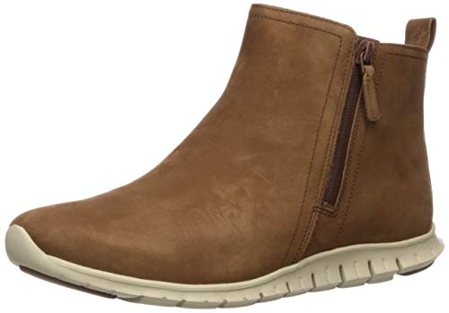 Cole Haan Women's Zerogrand Side Zip Bootie Waterproof Ankle Boot, Nosib Nubuck, 9 B US