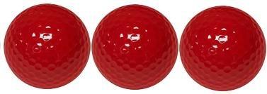 Quality Standard Dark Red Miniature Golf Ball 3 Ball Sleeve