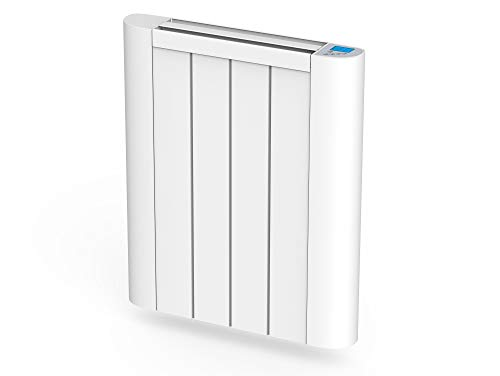 Emisor termico de inercia digital con placa ceramica,pantalla LCD, programador semanal y control WIFI serie CERAMIC S de PURLINE (600 W)