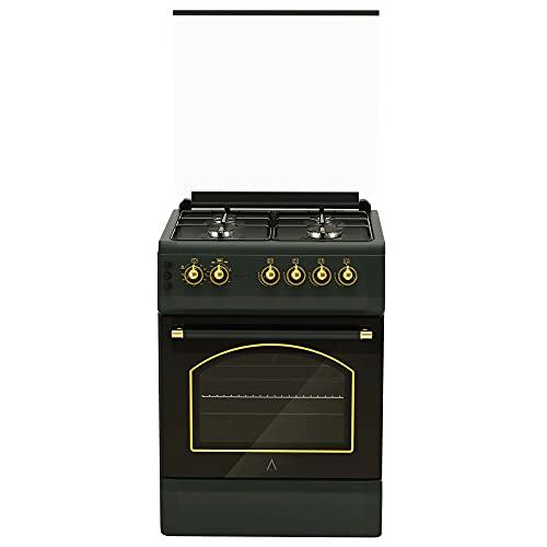 ALPHA Cocina de Gas VULCANO GOLD-60 Rustica. Encendido automático y temporizador en horno. **Alta Gama**