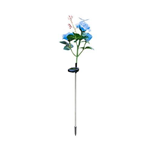 POHOVE Luces solares de flores para exteriores, impermeables, LED, con 3 rosas, luces decorativas para jardín, decoración de caminos, para jardín, patio trasero, etc.