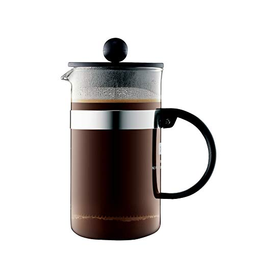 Bodum bistroNOUVEAU Kaffeebereiter (French Press System, Spülmaschinengeeignet), 1,0 liters schwarz
