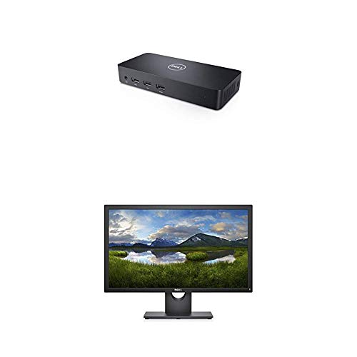 Dell USB 3.0 Ultra HD/4K Triple Display Docking Station (D3100) with Dell E Series 23-Inch Screen LED-lit Monitor (Dell E2318Hx)