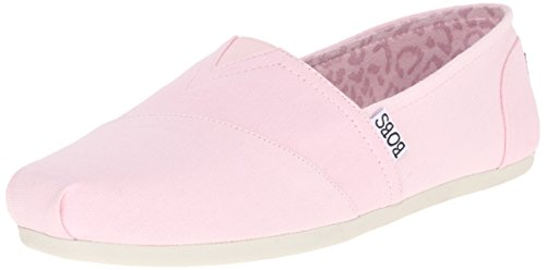 Skechers BOBS Women's Bobs Plush-Peace & Love Flat, Light Pink, 8 M US