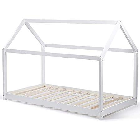 IDMarket - Lit cabane 90 x 190 CM Neel Blanc