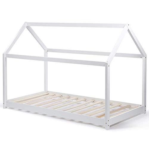 IDMarket - Lit cabane 90x190 cm Neel Blanc