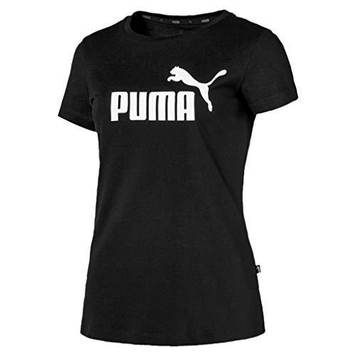 PUMA ESS Logo tee Camiseta, Mujer, Negro (Cotton Black), S