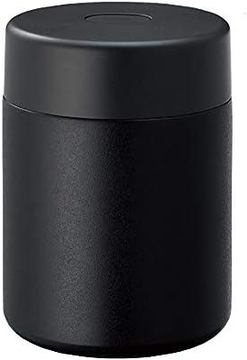 Zalatto スープポット 真空断熱 スープジャー 保温 ステンレス フードポット 400ml ブラック (メンズ ライク おしゃれ マット シリーズ) TS-1510-009