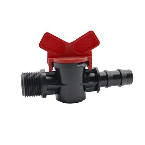 Grifo alargado 2pcs 1/2'TUBO A DN16 (MM) Interruptor de válvula de tubería PE Jardín 1/2' Válvula macho by-pass Drip Herramientas de riego Sistema de riego Accesorios (Color : 8L/H)