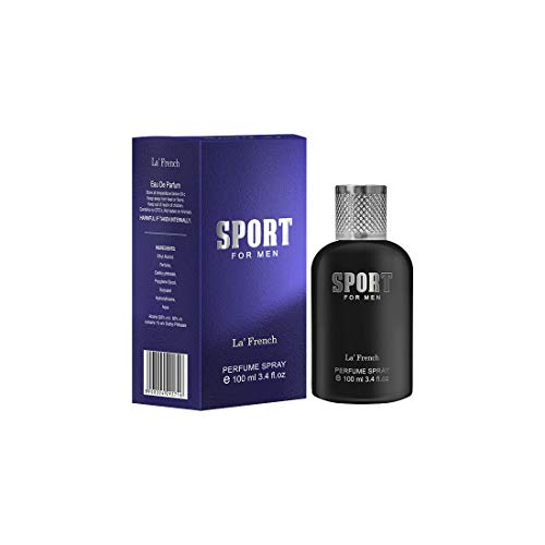 LA' French SPORT Perfume Long Lasting Aqua Fragrance, Eau De Parfum 100ml, Ideal for Men