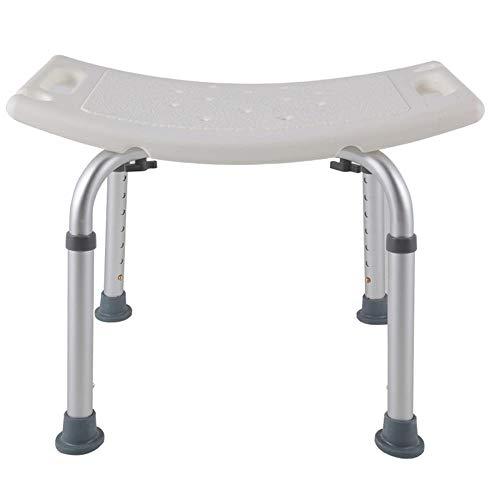 LZQ Duschhocker Höhenverstellbar 38-53cm Badstuhl Duschstuhl Anti-Rutsch Badsitz aus Alu und Kunststoff für Alter, Schwangere
