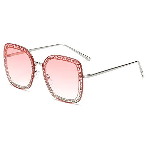 TYOLOMZ Gafas de Sol de Moda para Mujer Gafas de Sol sin Montura de Metal Lady Sunglass UV400