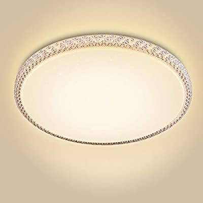 CORSO 48W LED Modern Ceiling Light Fixture Dimmable, 20 Inch Flush Mount Crystal Lighting for Living Room, Bedroom, Kitchen, Dining Room, 3000K Warm White, 3500lm, Ultra Slim & Super Bright