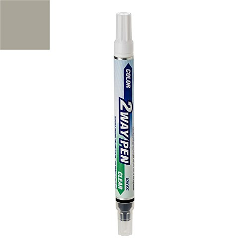 ExpressPaint 2WayPen - Automotive Touch-up Paint for Mercedes-Benz C-Class - Palladium Silver Metallic Clearcoat 792/9792 - Color + Clearcoat Only