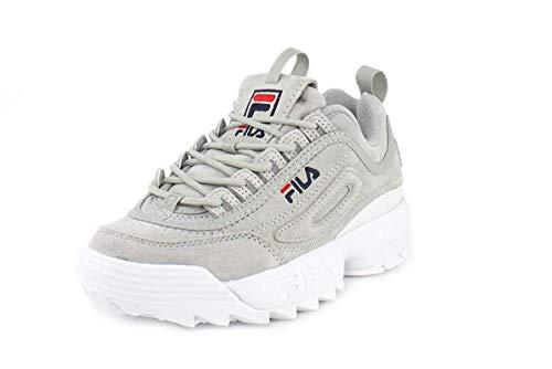 Fila Zapatillas deportivas de repetición Premium Disruptor II para mujer, gris (Gryv/Gryv/Blanco.), 39.5 EU