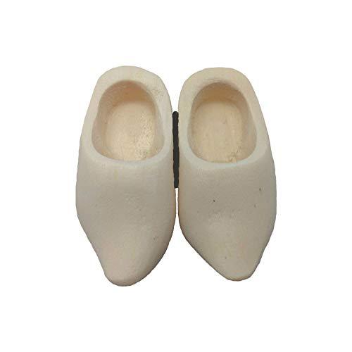 "Doll Shoe Wooden Shoe Pair Natural (1.5"")"