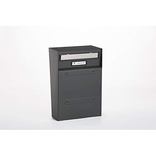 Cassetta postale rivista per recenzione S014 lamiera elettrozincata grigio ferro