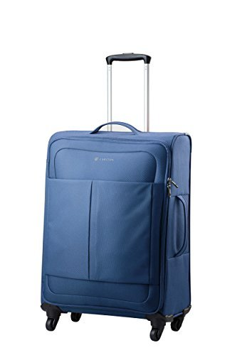 Carlton Luggage Set of 3 or Single Suitcases – Trolley Case Sets or Single Cases Ultralite NXT – 4 Wheel Spinner Suitcase inc Hand Baggage Size 55cm x 39 x 20-3 Colours (Medium 68cm, Navy)