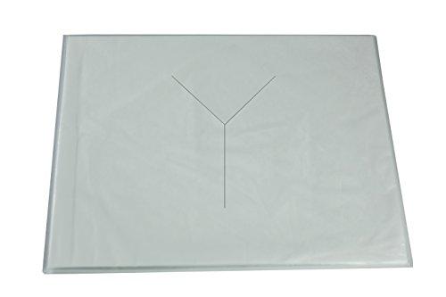 AMF Life Nasenschlitztücher, 35cm x 45cm, 90° Ecken, Öko-Tex Standard100, Einweg Hygieneauflage, weiß, 20g/m², 50 Stk.