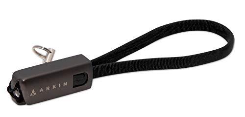 ARKIN ChargeLoop 2.0 llavero práctico, cable de carga USB-C compatible con teléfonos inteligentes Huawei y otros dispositivos útil cargador de cable de datos cortos para una carga ultrarrápida (NEGRO)