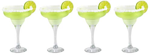 Epure Firenze Collection 4 Piece Margarita Glass Set - Classic For Drinking Margaritas, Pina...
