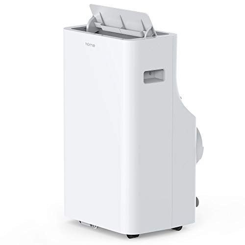 hOmeLabs 14,000 BTU Portable Air Conditioner - Quiet AC Cools Rooms 550 to 700 Square Feet - Air Conditioning Machine with 100 Pint Dehumidifier Function, Remote Control and Washable Filter