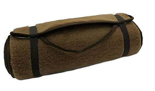 Alpenylle yogamatta kamel brun sportmatta pilatesmatta fitnessmatta olika storlekar halkfri (75 x...