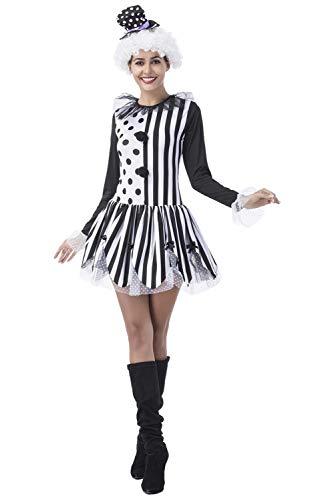 Tollstore Zirkusdirektor Kostüm Dompteur Zirkuskostüm Zirkus Jahrmarkt Uniform Clown Faschingskostüm Karnevals kostüm für Damen XL