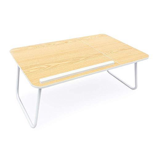 HYY-YY Zusammenklappbarer Laptop-Schreibtisch mit klappbaren Beinen, einfach zu tragen für Zuhause und Schule, für Bett, Sofa, Boden (Farbe: Natur, Größe: 60 x 38 cm)