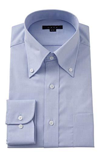 [オジエ] ozie【メンズ・ワイシャツ・カッターシャツ】スリム・綿100%・長袖・形態安定・オックスフォード・ボタンダウン