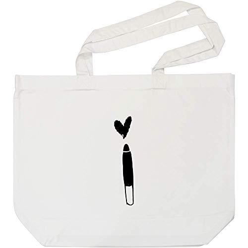 Azeeda 'Lippenkonturenstift' Weiße Einkaufstasche (BG00008515)