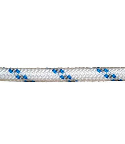 WOLFPACK LINEA PROFESIONAL 16012000 Cuerda Poliester Trenzada Blanca/Azul 4 mm. Bobina 200 m