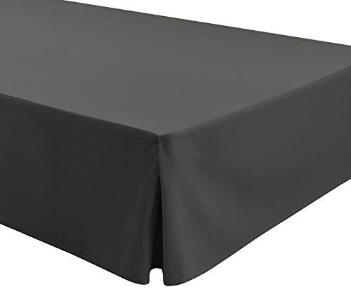 Easycosy - Spannleintuch für Tiefe Matratzen (32 cm) ATENEA, mit Volant-Rüschen Bettvolants - Bett 180cm - Farbe Grau (180x190/200cm)