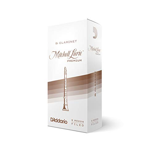 DAddario Woodwinds Mitchell Lurie Premium Bb Clarinet Reeds, Strength 3.0, 5-pack - RMLP5BCL300