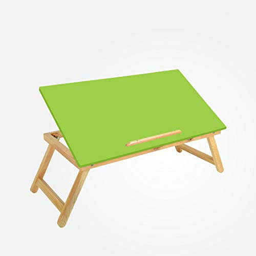 Coirfit Smart Work from Home Multi-Purpose/Laptop Folding with Elevated Function- Wooden- Green