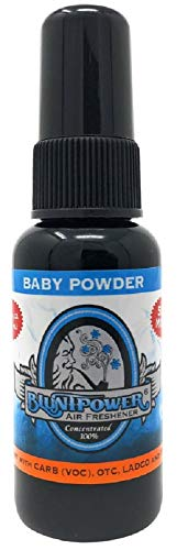 BluntPower 1 Ounce Bottle Oil Based Concentrated Air Freshener and Oil for Burner, Baby Powder